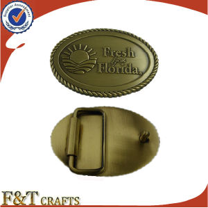 Manufacturer Custom Made Logo Souvenir Metal Belt Buckle (FTBB2801A) pictures & photos