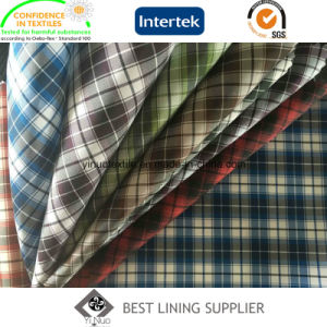 100% Polyester Men′s Jacket Liner Lining Fabric Check Lining pictures & photos