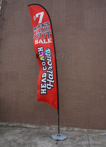 Dye Sublimation Printing Feather Flying Flag Banner pictures & photos