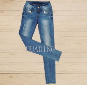 Wholesale New Collection Women Fashion Slim Fit Denim Jeans (Hdlj0050) pictures & photos
