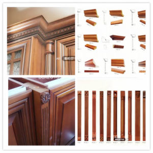 Hot Sell Bck American Style Red Cherry Solid Wood Frame Kitchen Cabinets pictures & photos