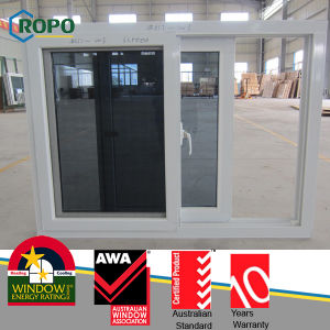 Grey Tinted Color Glass of UPVC Sliding Windows for Room pictures & photos