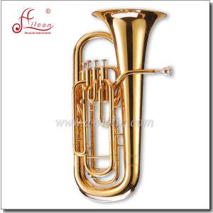 Gold Lacquer 4 Valves Bb Euphonium pictures & photos