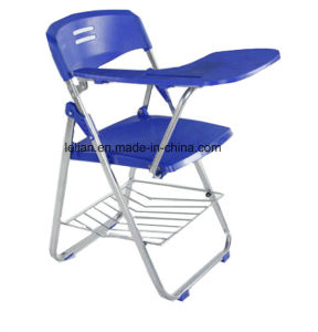 Smiling Study Folding Chair with Tablet and Bookraft for Options (LL-0020) pictures & photos