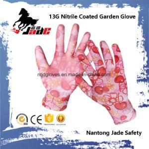 13G Nitrile Coated Garden Safety Work Glove pictures & photos
