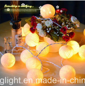 Ce& RoHS Approved Light String with Fiber Flower for Decoration pictures & photos