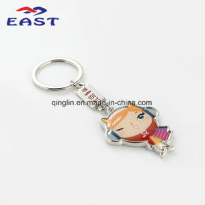 Creative Cartoon Full Color Printed Metal Key Ring pictures & photos
