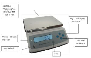 20kg 1g Top Loading Scale with Rechargeable Battery pictures & photos