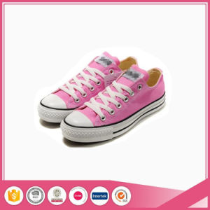 Basic Style Pink Lady Canvas Shoes pictures & photos