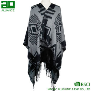 Fashion Women Winter Capes Warm Shawls with Tassels pictures & photos