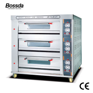 Gas Deck Oven Catering Kitchen Machine Bakery Equipment for Baking with 3deck 9trays pictures & photos