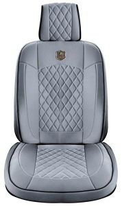 Car Seat Cover 3D Universal Shape with Viscose Fabric Grey Cushion