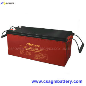 Solar Panel Deep Cycle Gel Battery 12V200ah for Power Storage pictures & photos