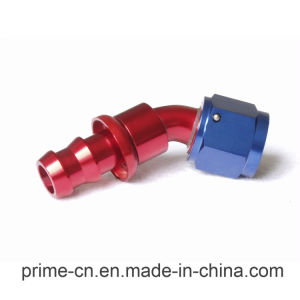 An10 Push on Hose End 45 Degree Aluminum Fitting Adapter pictures & photos