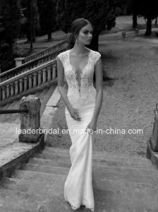 Sheer Lace Wedding Dresses Cap Sleeves Berta Bridal Gowns A01 pictures & photos