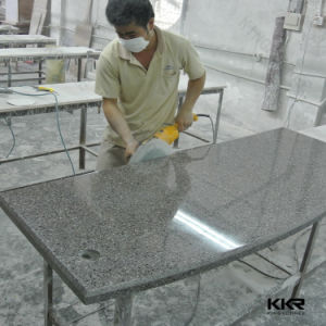 Custom Sizes Quartz Solid Surface 3cm Finished Bathroom Kitchen Worktop pictures & photos