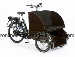 250W/500 Watt Electric Rickshaw Passenger Bike Space 2 Front/Taxi Bike/Taxi Tricycle/Taxi Pedicab for Elder People Ce pictures & photos