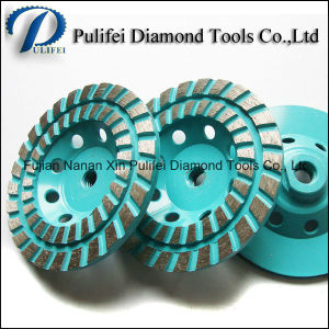 Turbo Segment Diamond Grinding Cup Wheel for Concrete Floor Hand Grinder pictures & photos