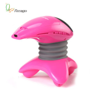 Battery Operated Handheld Body Micro Vibration Massager with Music pictures & photos