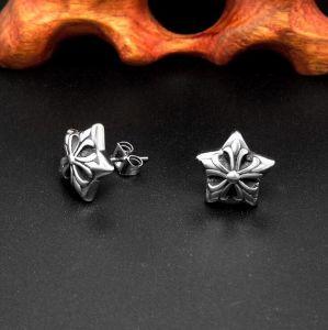 Star Stud Earrings Titanium Steel fashion Jewelry Retro Punk pictures & photos