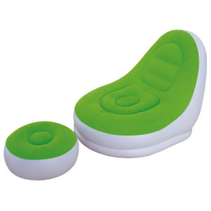 Green Color Flocked PVC Relax Inflatable Sofa Set for Beach or Outdoor pictures & photos