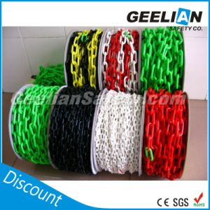 Flat/Round Plastic Chain, Blue Red Yellow Black Green Plastic Chain for Warning Post pictures & photos