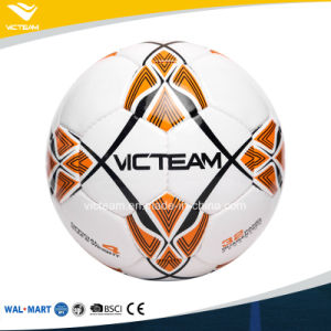 Handmade Glossy PU Leather Deflatable Soccer Ball pictures & photos