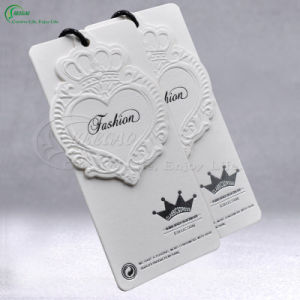 Printed Embossed Tags for Clothing, Shoes, Garment, Bags (KG-PA049)