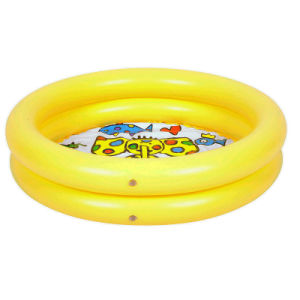 Family PVC or TPU Inflatable 2 Rings Swimming Pool for Baby pictures & photos