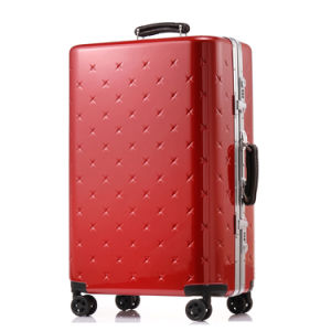 Magllu Luggage Travel Set Bag ABS+PC Trolley Suitcase Red pictures & photos