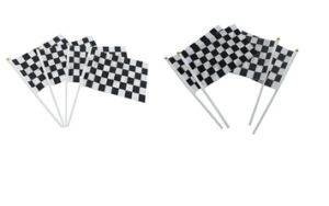 Black & White Finish Racing Flag Grid Racing Car Hand Waving Flag pictures & photos