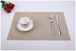 Factory Sales PVC Table Mat. European Style Dining Grey Pad