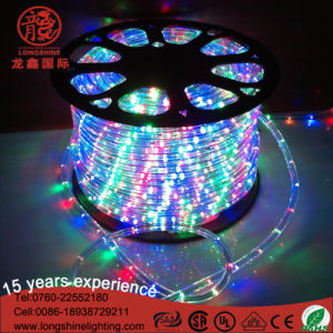 LED 220V 10mm 13mm Round 2 Wire Flexible Rope Strip Light for Decoration pictures & photos