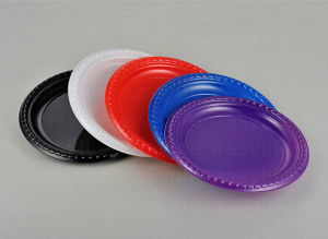 Shape 6 Easylife Various Disposable PS Plastic Round Plate pictures & photos