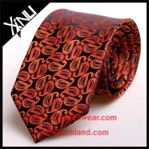 Handmade 100% Silk Jacquard Mens Brown Paisley Ties pictures & photos