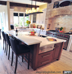 Classic Style Cherry Solid Wood Kitchen Cabinet pictures & photos