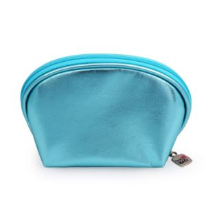 Wholesale Indian Dome Coin Purse and Wash Bag in Cracked Metallic PU pictures & photos
