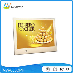 Custom OEM 8inch Silver Slim Digital Picture Frame That Play Music pictures & photos