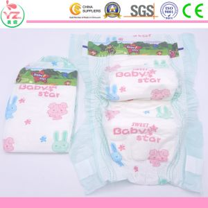Hot Sale Soft Disposable Baby Diaper Make in China pictures & photos
