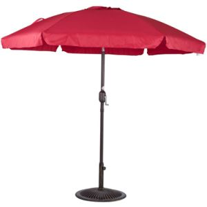 Outdoor 7.5 Feet Aluminum Beach Drape Umbrella with Crank