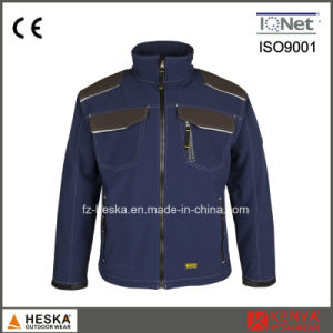 Mens TPU and Fleece 3 Layer Anti-Abrasion Softshell Jacket pictures & photos