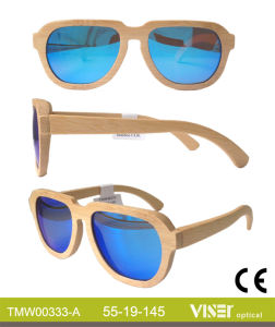New Style Wooden and Bamboo Sunglasses with High Quality with Ce and FDA (333-A) pictures & photos