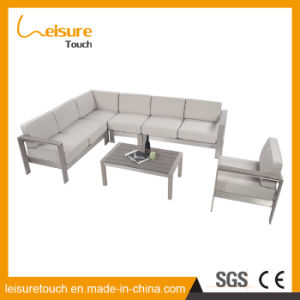 Family Expenses Aluminum Combination Corner Sofa Leisure Fashion Hotel Gray Outdoor Furniture pictures & photos