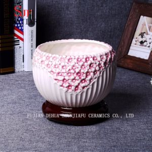 3 Colors Hand Coloured Drawing Ceramic Planter/ Plant Pot/ Flowerpot pictures & photos