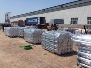 Hot DIP Galvanized Flange Ground Screw Pile for Solar Energy Mounting pictures & photos