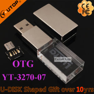 Andriod Mobilephone Gift OTG Swivel Crystal USB Stick (YT-3270-07) pictures & photos