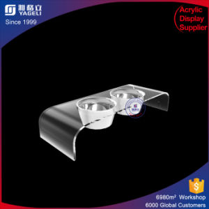 Factory Sale Customized Acrylic Pet Bowl Holder pictures & photos