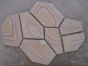 Professional Manufacturer Sandstone Flagstone with Mesh (SSS-90) pictures & photos