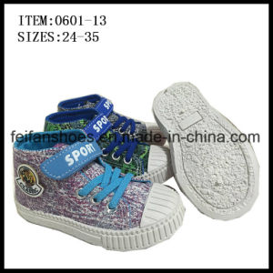 Children Injection Canvas Footwear Shoes OEM (0601-13) pictures & photos