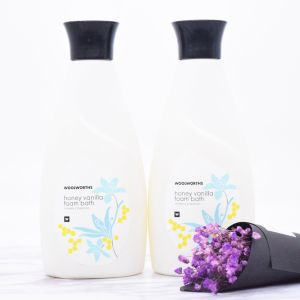 Woolworths Honey Vanilla Foam Bath Vitamin E Enriched pictures & photos